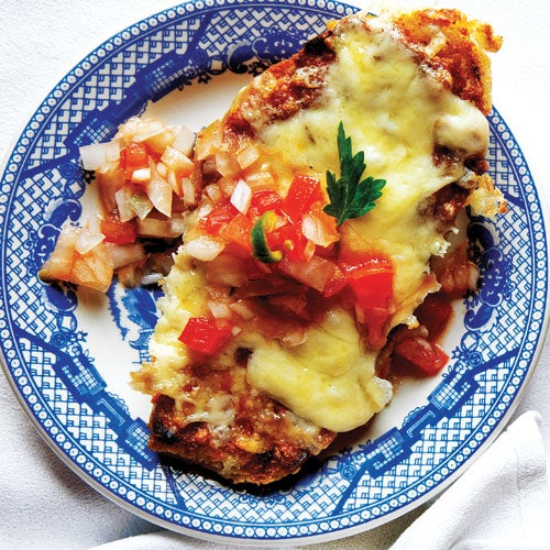 Mexican Bean and Cheese Sandwich (Molletes)