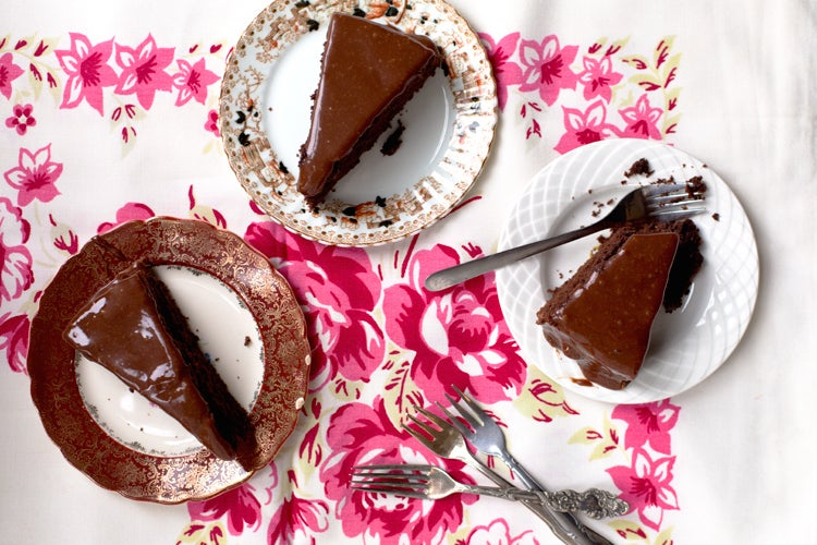 Chocolate Cake with Fudge Icing