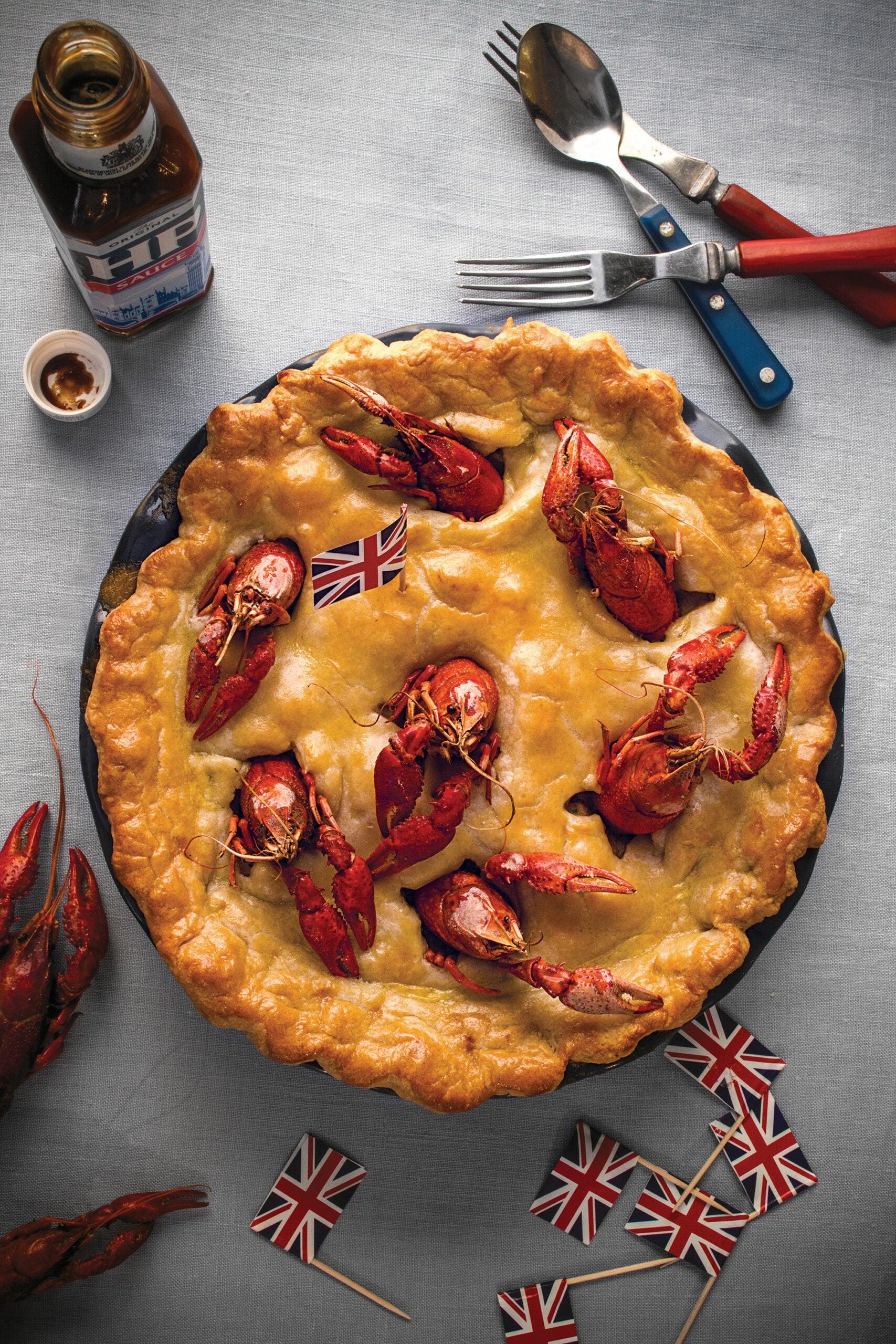 Rabbit and Crawfish Stargazy Pie, British Pies