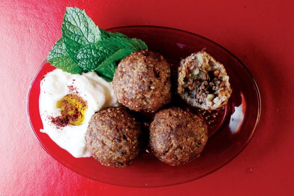 Beef and Bulgur Wheat Meatballs (Kibbeh)