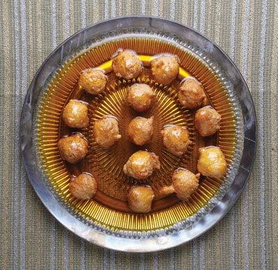 Saffron-Flavored Fritters (Lgeimat)