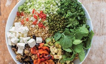 Grilled Vegetable and Barley Salad