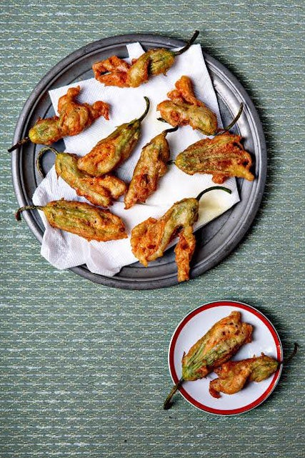 Fried Anchovy-Stuffed Zucchini Blossoms