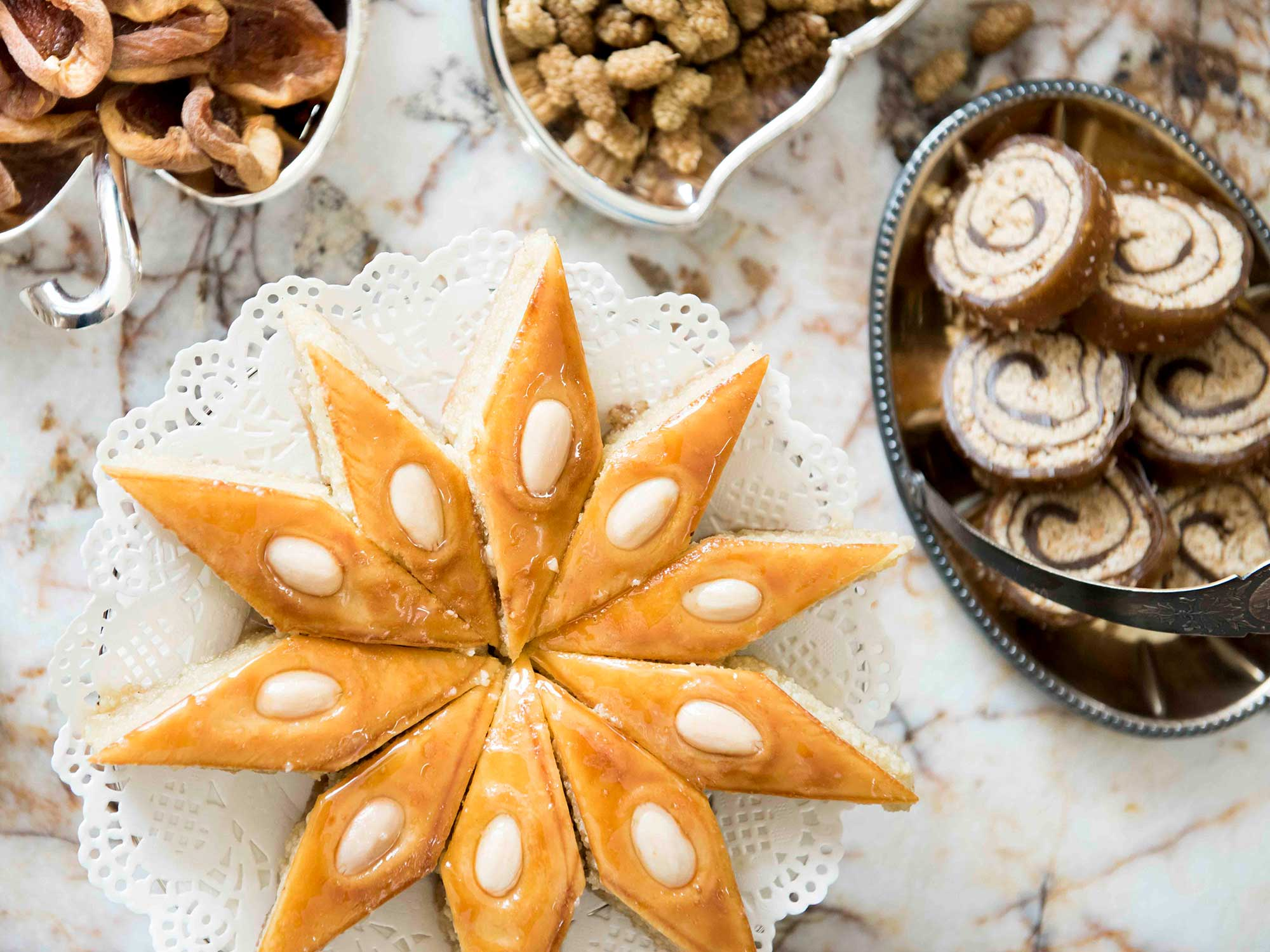almond-cardamom pakhlava