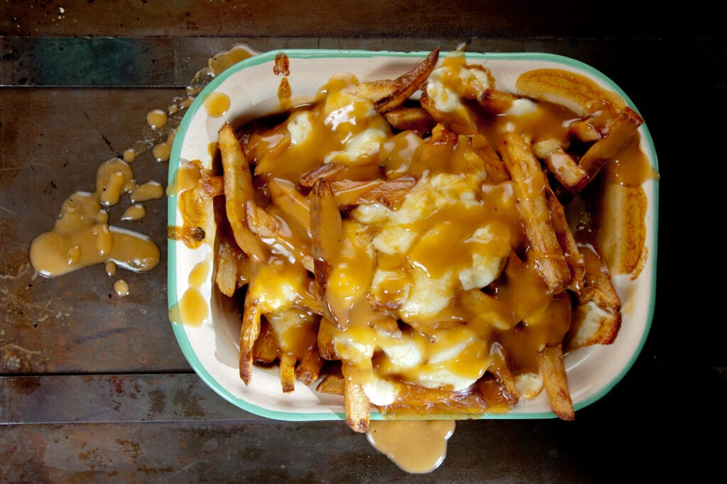 Poutine (French Fries with Gravy and Cheese Curds)