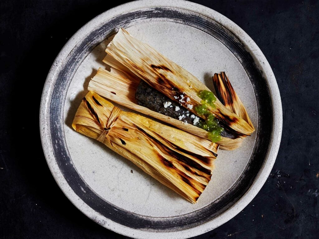 Tamales are the ideal portable snack for a road trips or a picnic.