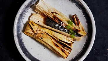 Tamales with Tomatillo Salsa