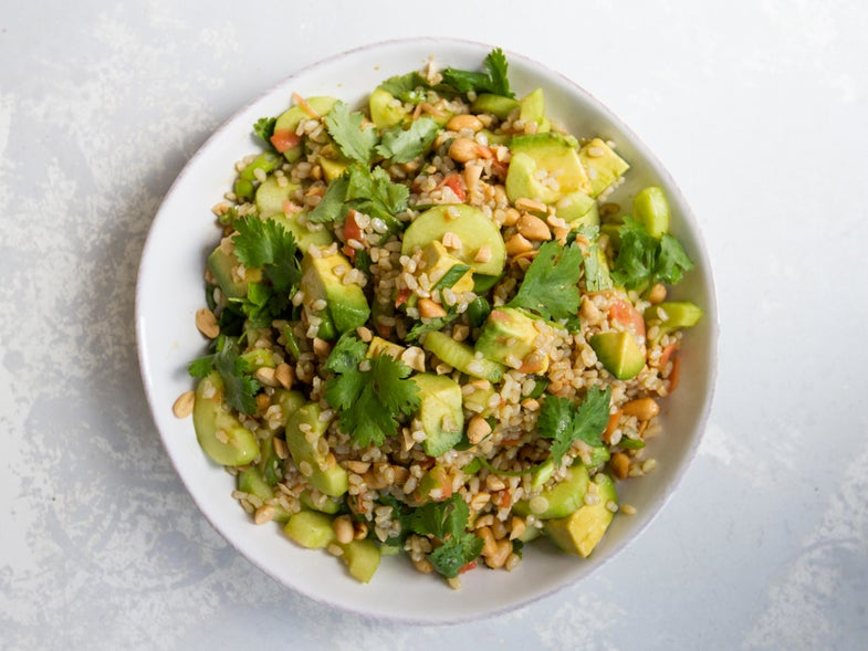 Brown Rice Salad with Avocado