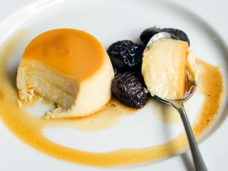 Sauternes Custard with Armagnac-Soaked Prunes