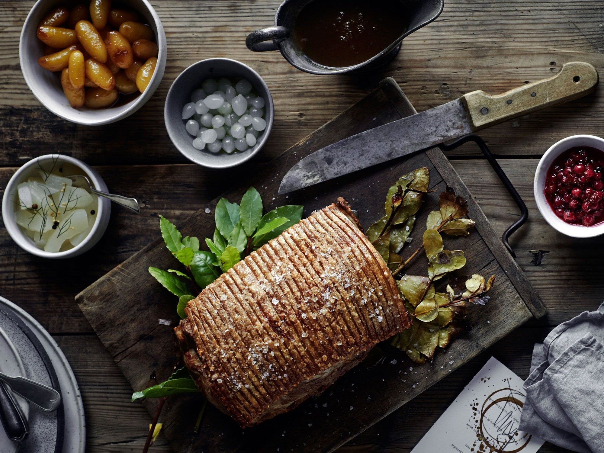 Roast Pork Loin with Salted Caramel Potatoes