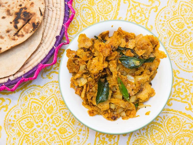 Indian Stir-Fried Roti (Baghari Masala Roti)