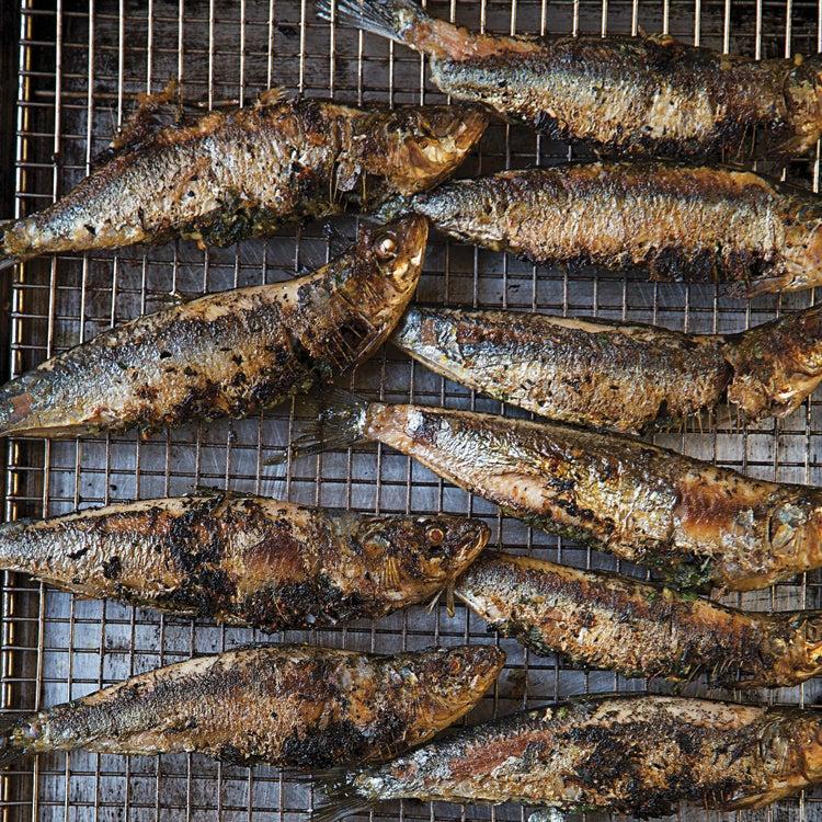 Grilled Gremolata-Stuffed Sardines