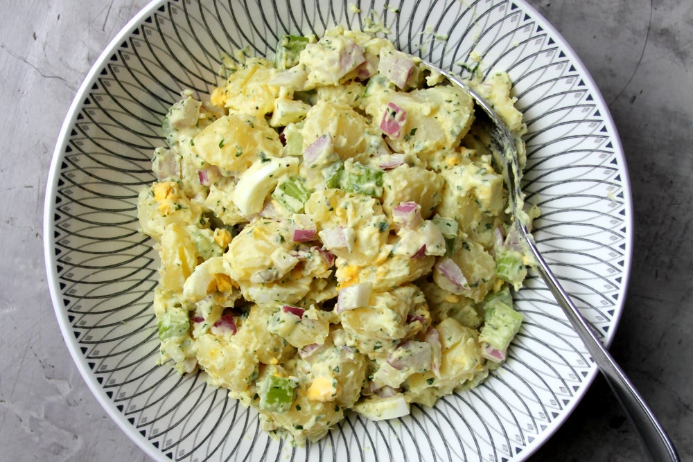 Creamy Potato Salad with Red Onion