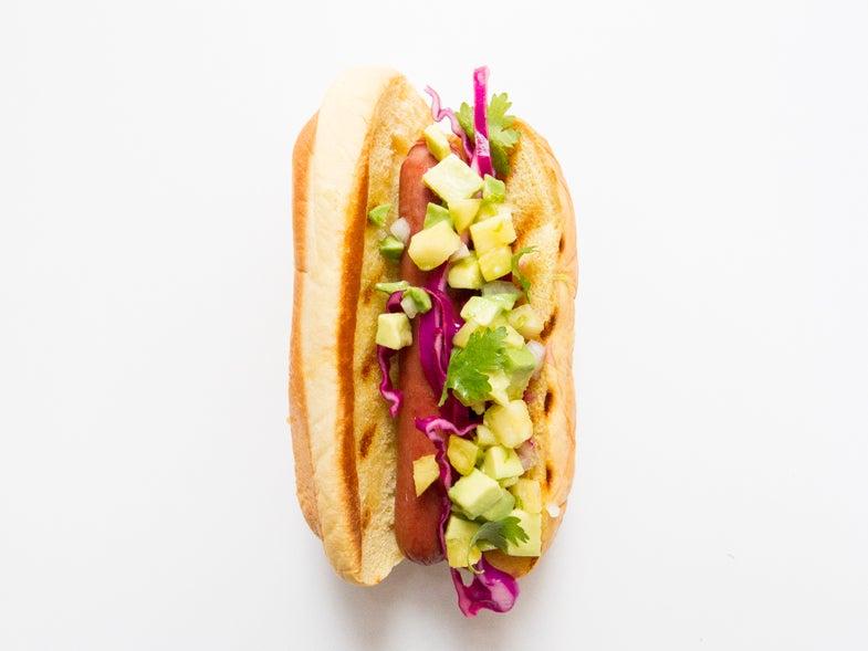 Pineapple Avocado Hot Dog