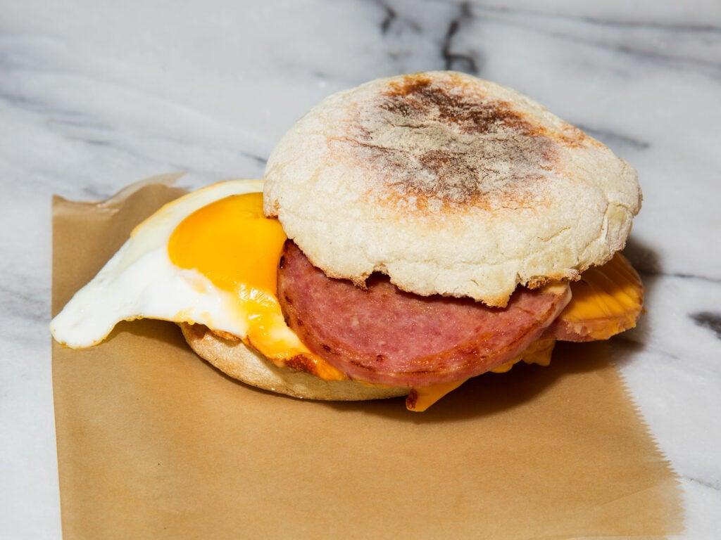 Pork Roll Breakfast Sandwich