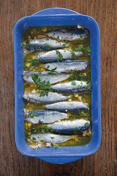 Marinated Sardines (Sardeles Ladolemono)