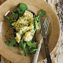 Knife-and-Fork Egg Salad Sandwiches with Chives