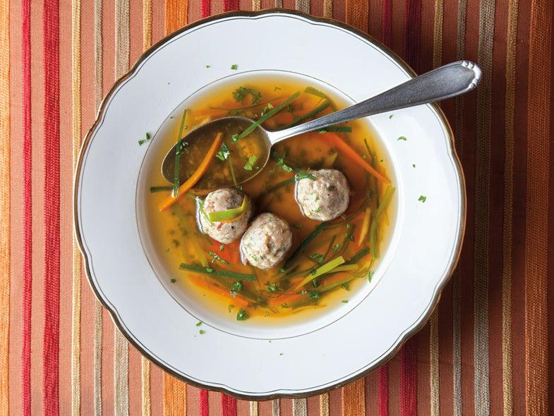 Beef Marrow Dumpling Soup (Markklösschensuppe)