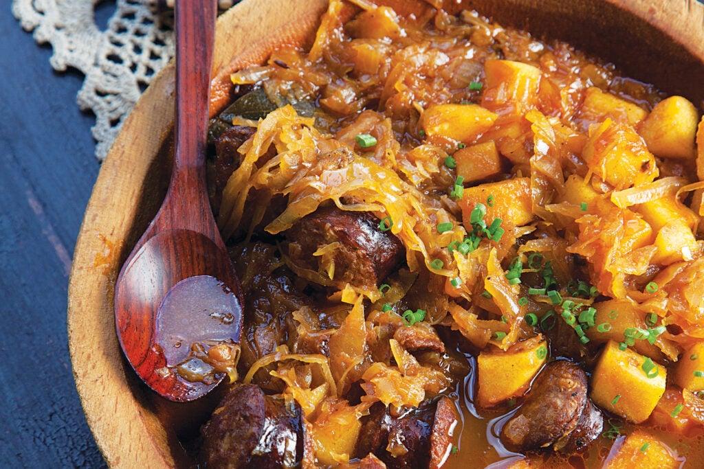 Polish Pork and Sauerkraut Stew (Bigos)