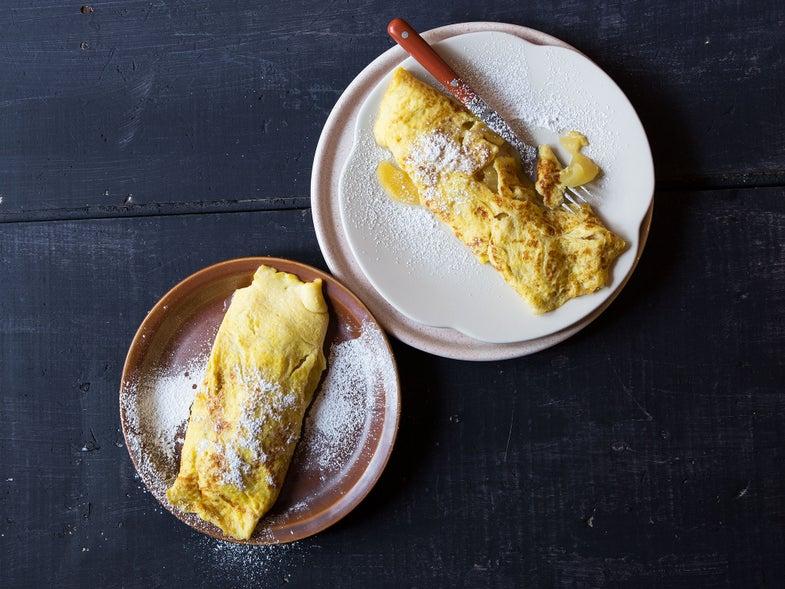 Caramelized Apple Omelet