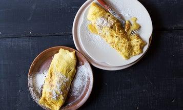 Caramelized Apple Omelette (Omelette Sucrée à la Normande)