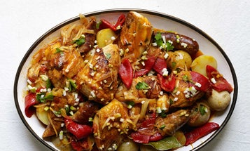 Basque Braised Chicken with Peppers (Chicken Basquaise)