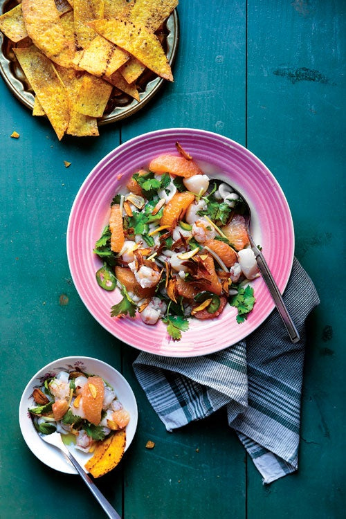 Grapefruit and Seafood Ceviche