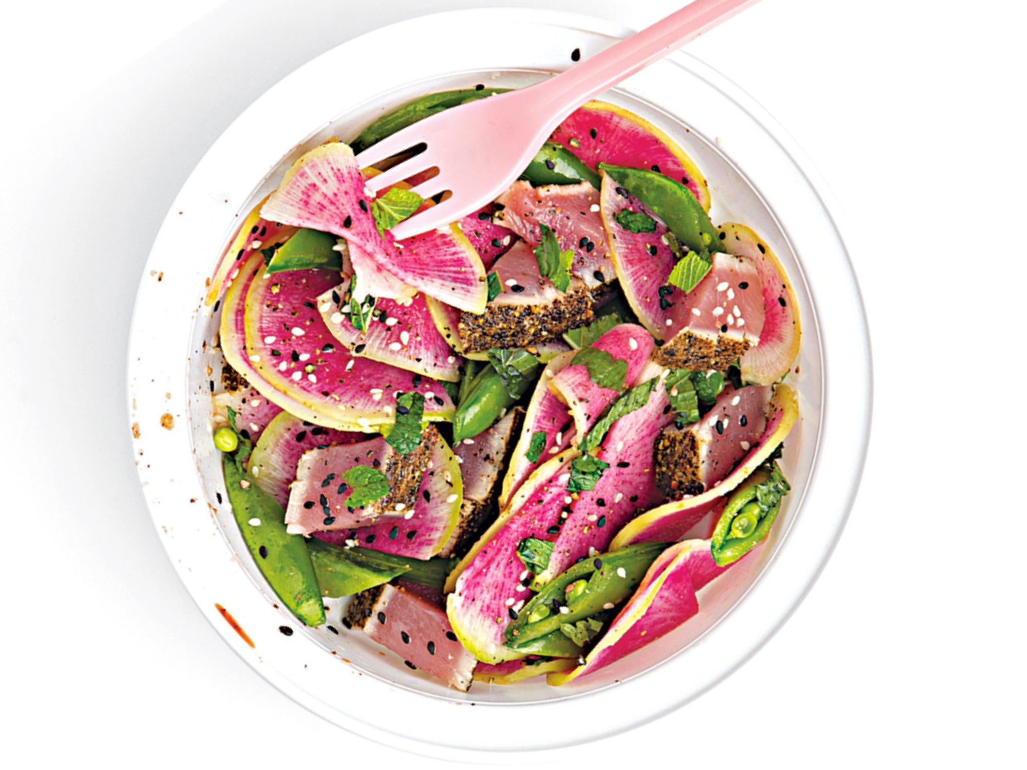 watermelon radish salad, easy salads, summer salad recipe