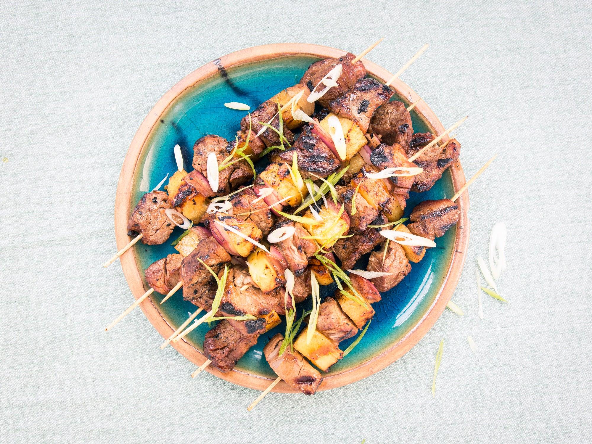 Pineapple and Pork Teriyaki Skewers