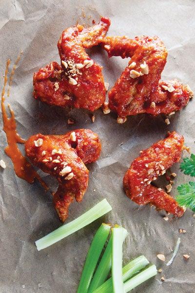 Peek Gai Nam Daeng (Spicy Thai Chicken Wings)
