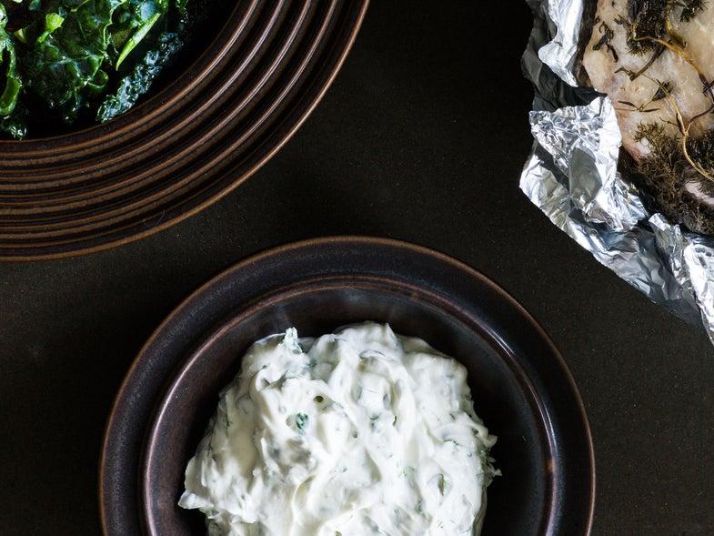 Sweden, recipe, Magnus Nilsson, skyr, cheese, parsley, dill