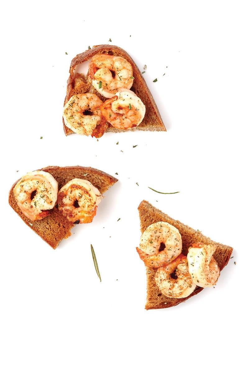 Shrimp and Rosemary Crostini