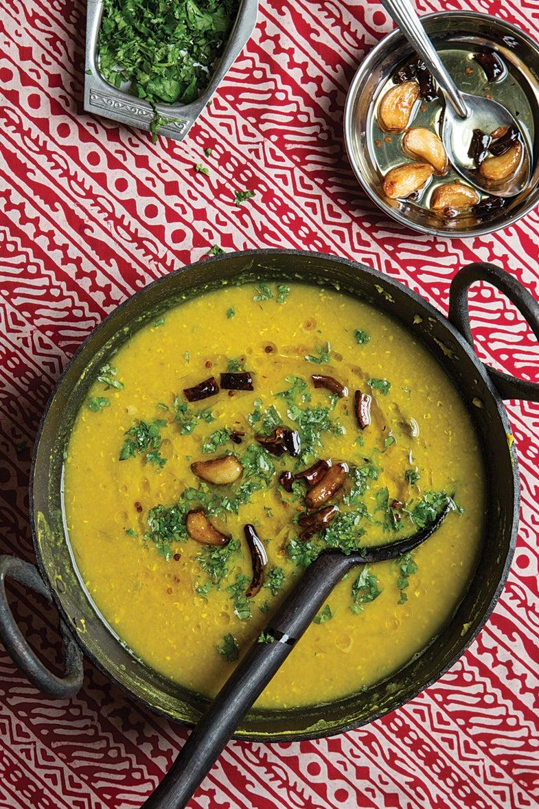 Malika Masoor Dal (Red Lentils with Green Mango)