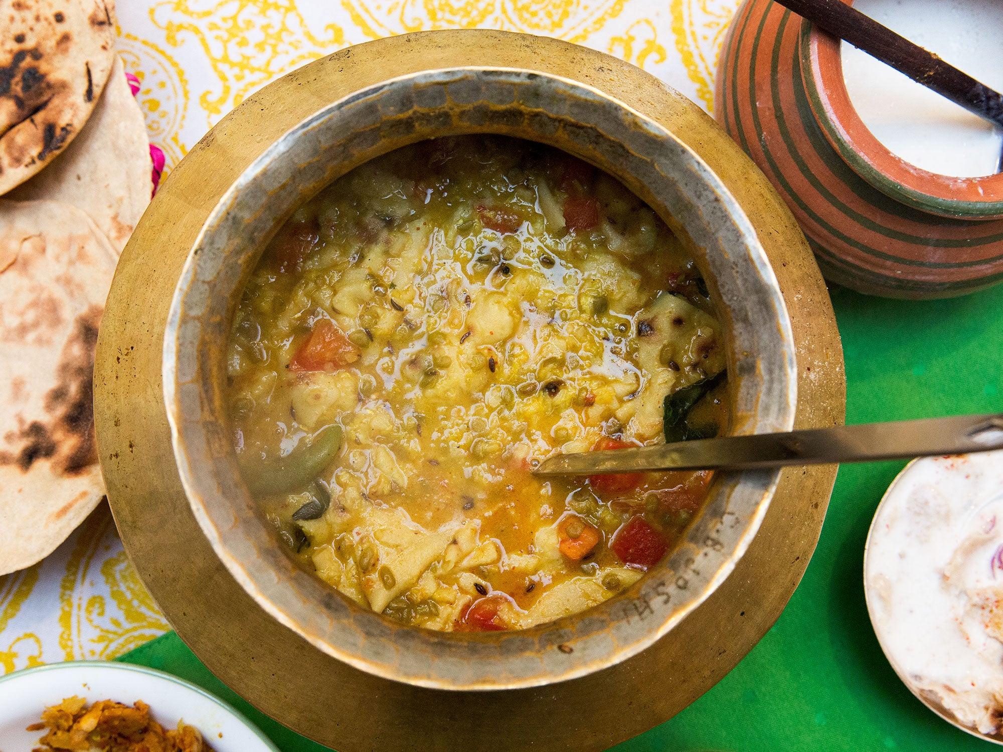 Dal Dhokli (Indian Roti and Lentil Stew)
