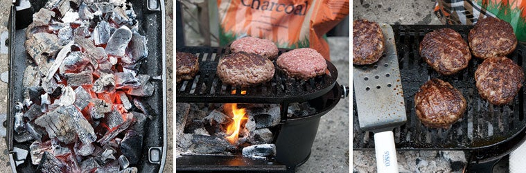 How to cook burgers on charcoal grills