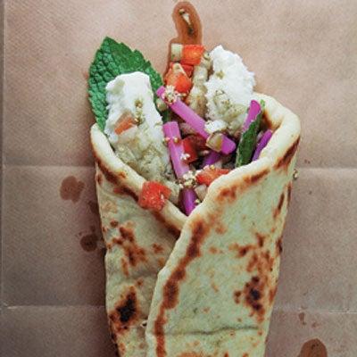 Man'oushé (Herbed Vegetable Flatbread Sandwich)