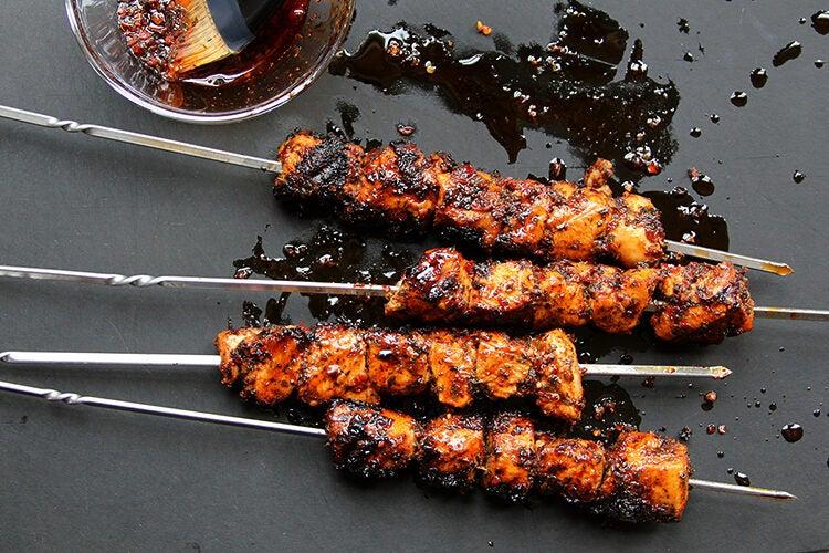 Mint & Aleppo Pepper Marinated Chicken Kebabs (Tavuk Kebabi)
