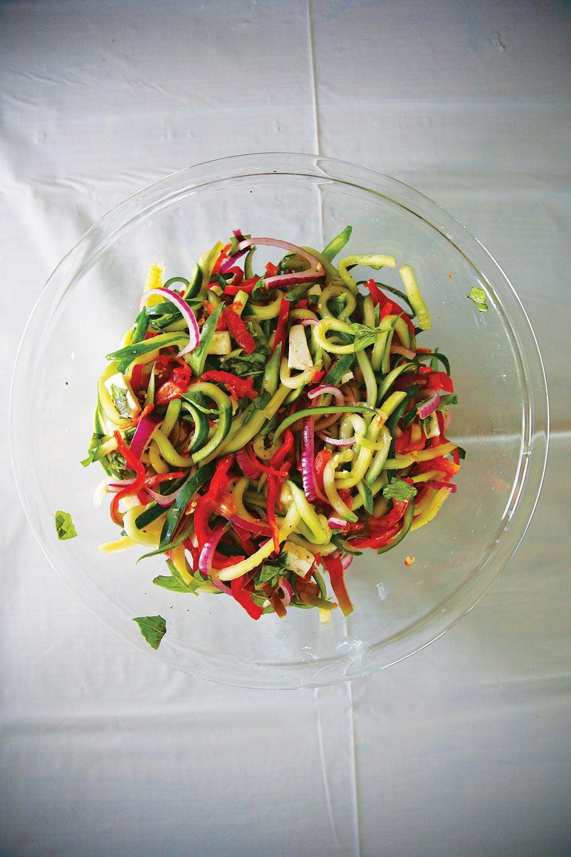 Cucumber Pepper Slaw