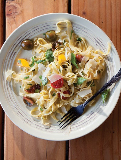 Fettuccine with Heirloom Tomatoes