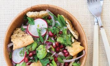 Fava Bean, Herb, and Pomegranate Fattoush
