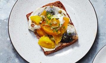 Pickled Herring, Orange, and Crème Fraiche Smorrebrod