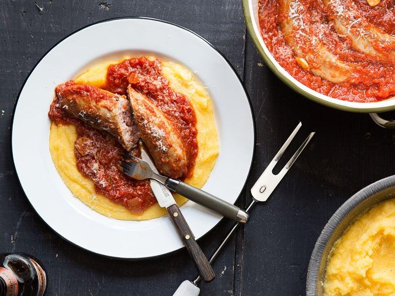 sausage polenta