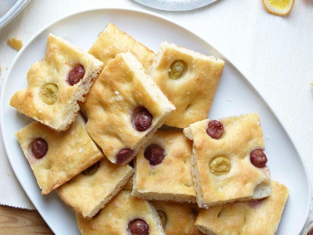 Abruzzo-Style Grape Focaccia Road Trip Food