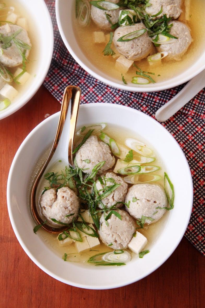 Sardine Miso Ball Soup