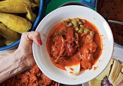 Rebocado (Pork Neck and Purslane Stew)