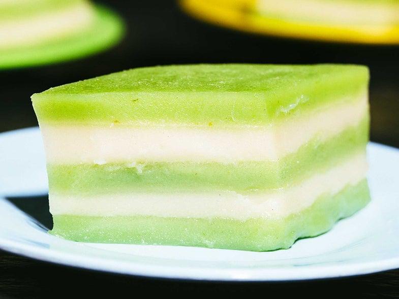 Thai Steamed Coconut-Pandan Cake