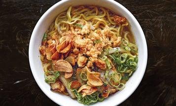 Filipino Pork Noodle Soup with Shrimp Paste (La Paz Batchoy)