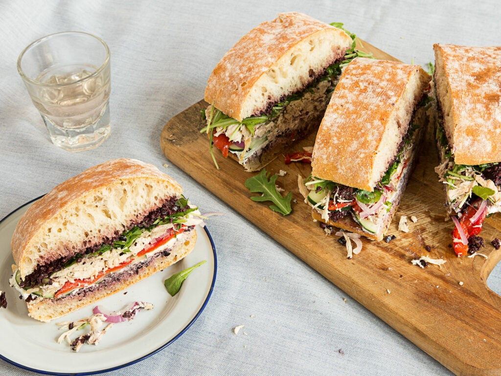 This iconic Provencal sandwich is perfect for a picnic.