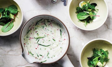 Okroshka (Chilled Buttermilk Soup with Herbs)