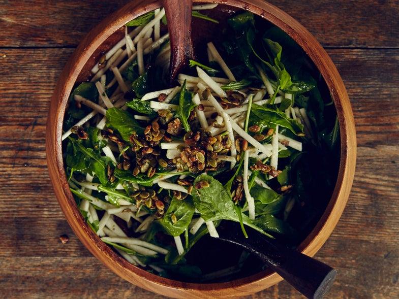 Turnip Salad with Green Grape Vinaigrette